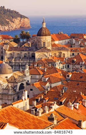 Dubrovnik Old Town at sunset