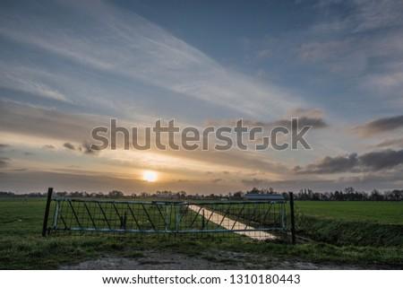 ducth landscape sunrise