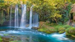 Duden (upper) waterfall and nature park in Antalya city, Turkey