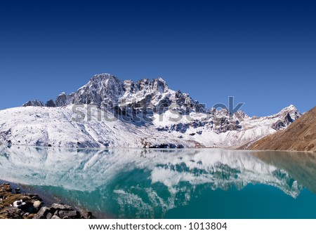 Dudh Pokhari, Gokyo's third Lake. Nepal