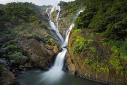 Dudhsagar Waterfall, Goa, INDIA, Circa September 2017