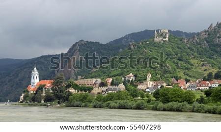 Duernstein at river Danube (Wachau, Lower Austria) 01