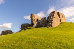 Duffus Castle in Scotland