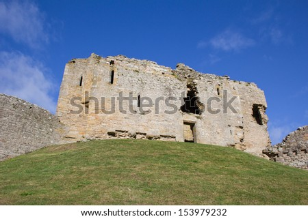 Duffus Castle, Morayshire, Scotland. (Regarded as one of the finest examples of a motte and bailey castle in Scotland.)