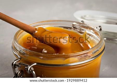 Dulce de leche, traditional sweet in Latin America. Foto stock ©