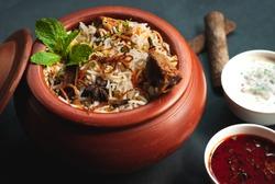 Dum Biryani with Yoghurt and Curry