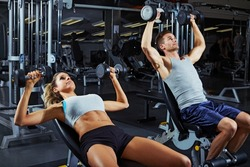 Dumbbell bench press workout