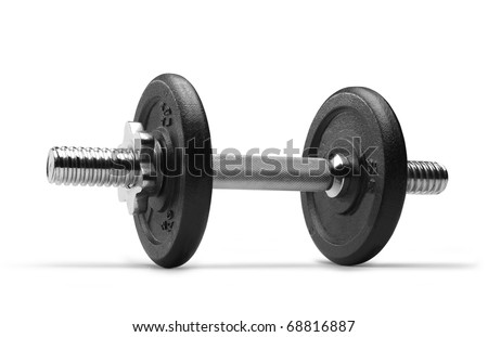 Dumbbell (clipping path) on white background