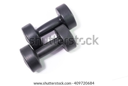 Dumbbell Dumbbell on the white background