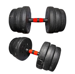 Dumbbell, exercise equipment, muscles, various parts of the body.white background Embedded with path For easy editing