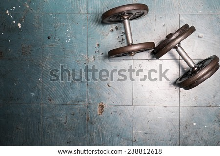 dumbbell exercise weights on the floor