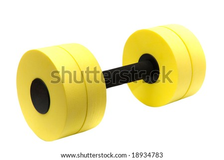 Dumbbell for aqua aerobic isolated on white (with clipping path) Stock photo ©