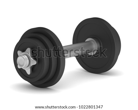 dumbbell on white background. Isolated 3D illustration