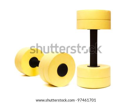Dumbbells for aqua aerobic isolated on white Stock photo ©
