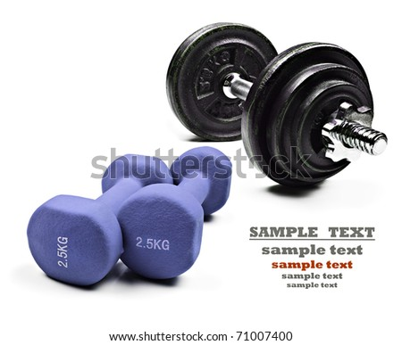 Dumbbells for exercise