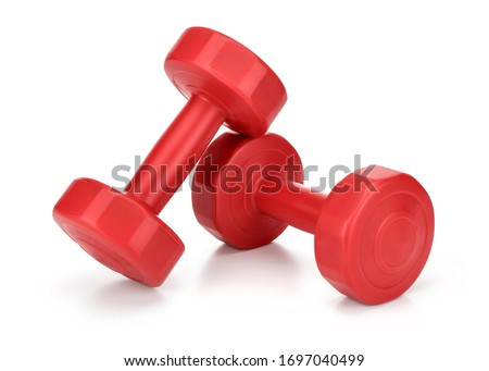 dumbbells Isolated on white background Stock photo ©