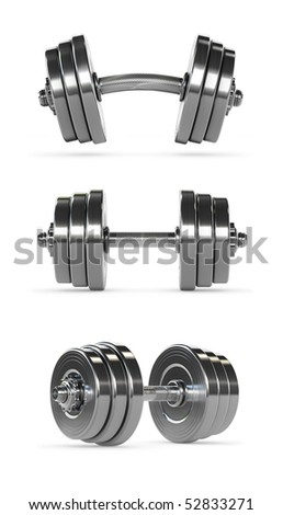 Dumbbells with clipping paths