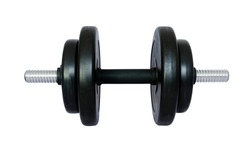 Dumbell isolated on white background.