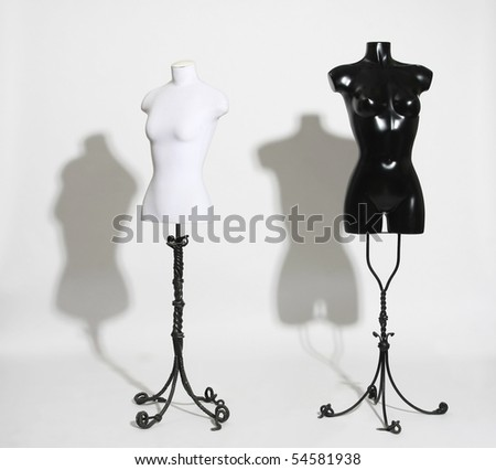 Dummies on a white background