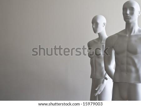 dummies - woman and man
