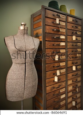 dummy for modeling design of woman dress