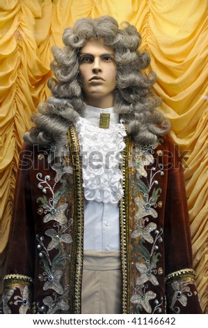 Dummy in clothes of a nobleman of the eighteenth century - stock photo