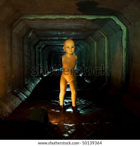 Dummy in the tunnel