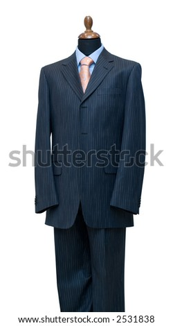 Dummy, isolated on white, clipping path included