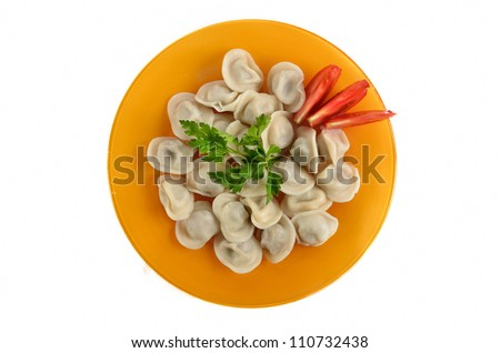 dumplings on the dish