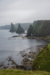 Duncansby Head (Scotland) in a wet day