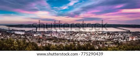 Dundee panorama at sunset