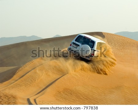 Dune bashing / Desert safari sand splash