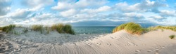 Dune beach as background panorama