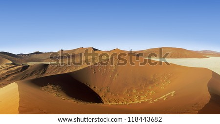 Dune 45  in Sossusvlei dunes Namibia