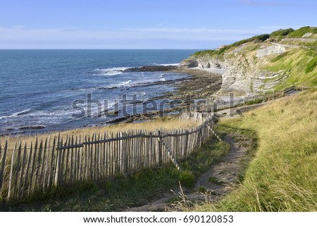 Shutterstock Dune on the coastline of Saint Jean de Luz, a commune in the Pyrenees-Atlantiques department in south-western France