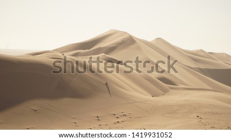 Dune 7 Sand Dune in the Namib Desert near Walvis Bay, Namibia. #1419931052