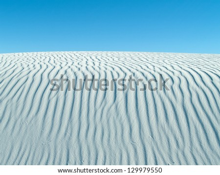 Dune textures at the White Sands National Monument near Alamogordo, New Mexico