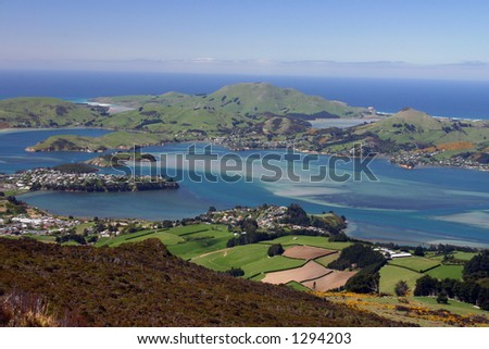 Dunedin Peninsula view - New Zealand