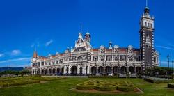 Dunedin railway station, Dunedin, South island of New Zealand