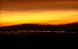 Dunedin sunset overlooking the hills