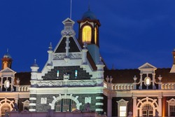 Dunedin Trains station is a famous landmark in the South Island city. It was built in 1906. Dunedin New Zealand