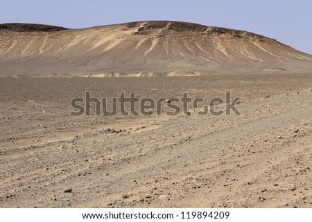 Dunes and gravel plains in Skeleton Coast Park. Namibia