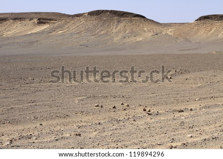 Dunes and gravel plains in Skeleton Coast Park. Namibia