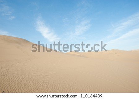 Dunes in Huacachina, Peru