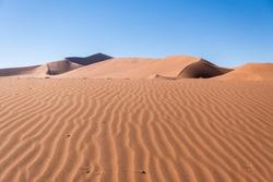 Dunes in the desert of Namibia
