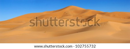 Dunes of Sahara desert in Morocco