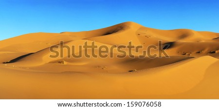 Dunes of Sahara desert in Morocco  #159076058