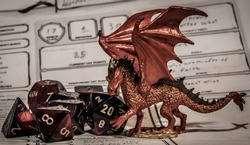 Dungeons and Dragons scene made with miniatures