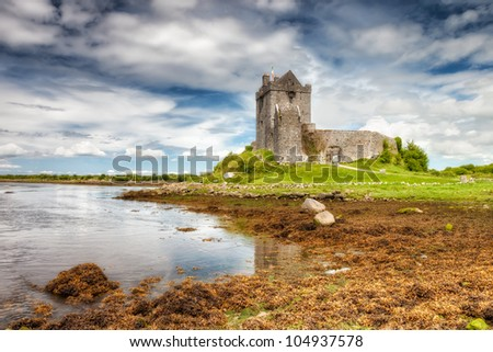 Dunguaire Castle in  County Galway, Ireland.