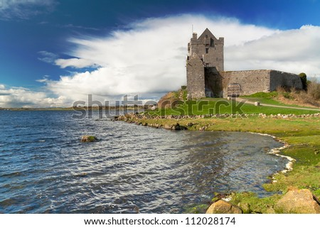 Dunguaire castle near Kinvarra in Co. Galway, Ireland - stock photo